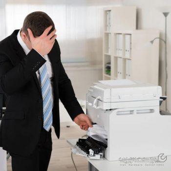 مشکلات رایج در دستگاه کپی